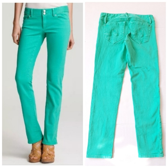 Lilly Pulitzer Denim - Lilly Pulitzer Worth Skinny Stretch Teal Jeans